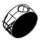 Dytron nástavec čelisťový plochý 100mm, black