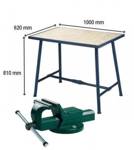 Montážní stůl Matador se svěrákem 140mm