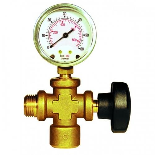 REMS Připojný kus s manometrem a ventilem